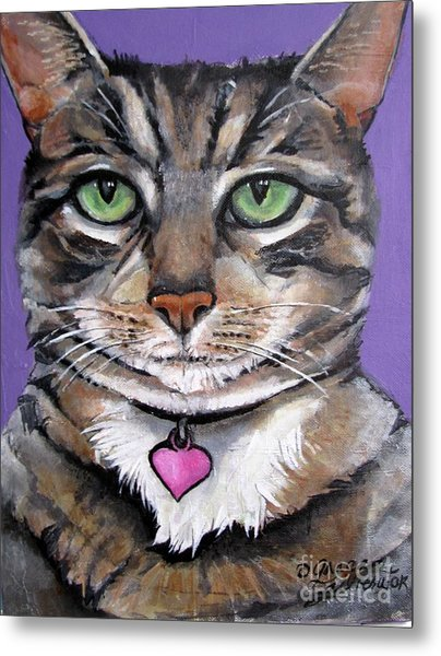 Marvelous Minnie The Gallery Cat Metal Print