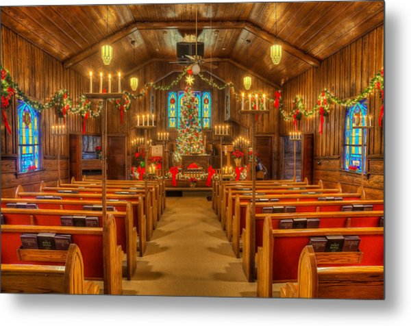 Mary Helen Christmas Metal Print