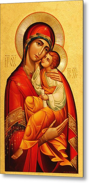 Mary The God Bearer Metal Print