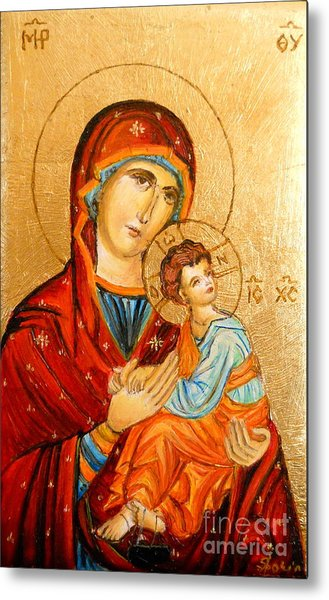 Mary With Jessus R.2 Metal Print