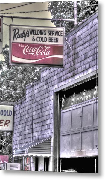 Maryland Country Roads - Some Things Just Go Together No. 1 - Rudys Welding And Cold Beer Metal Print