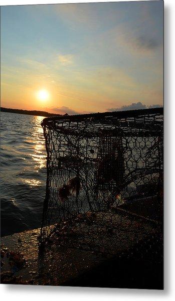 Maryland Crabber's Horizon Metal Print