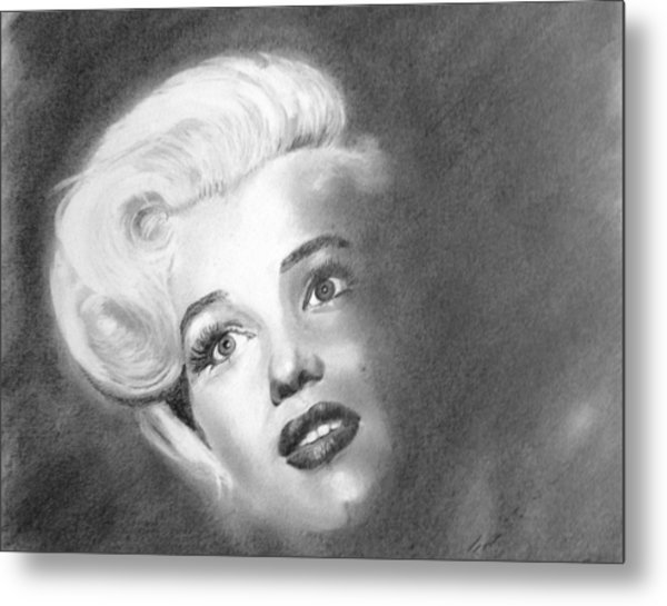 Marilyn- In The Shadows Metal Print