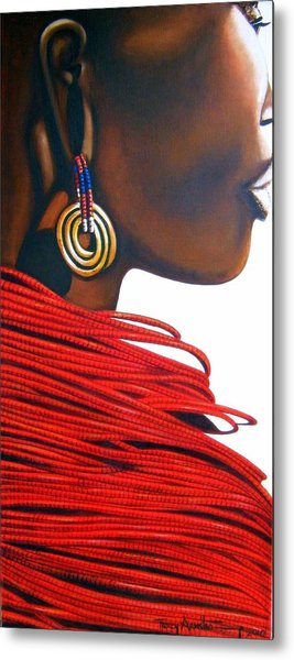 Masai Bride - Original Artwork Metal Print