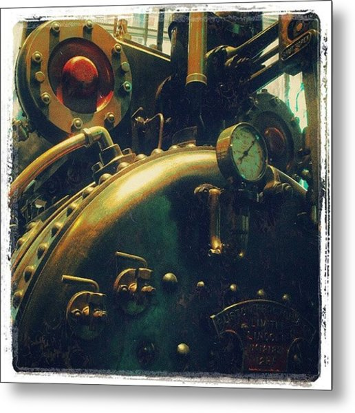 #mashines ... #steamengine #engine Metal Print