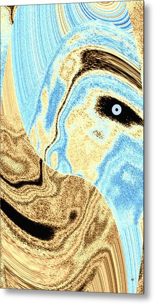 Masked- Man Abstract Metal Print