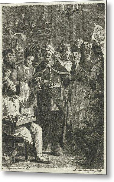Masquerade, Lambertus Antonius Claessens Metal Print