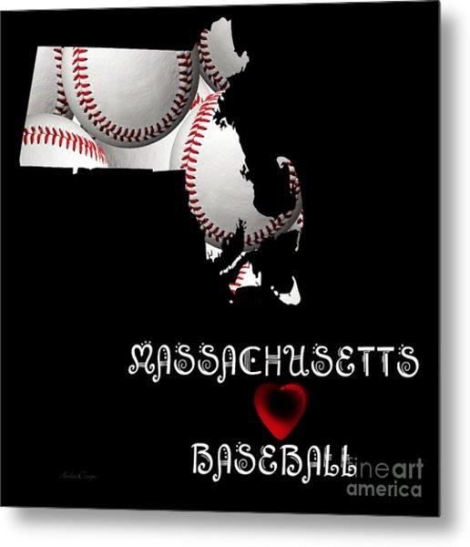 Massachusetts Loves Baseball Metal Print