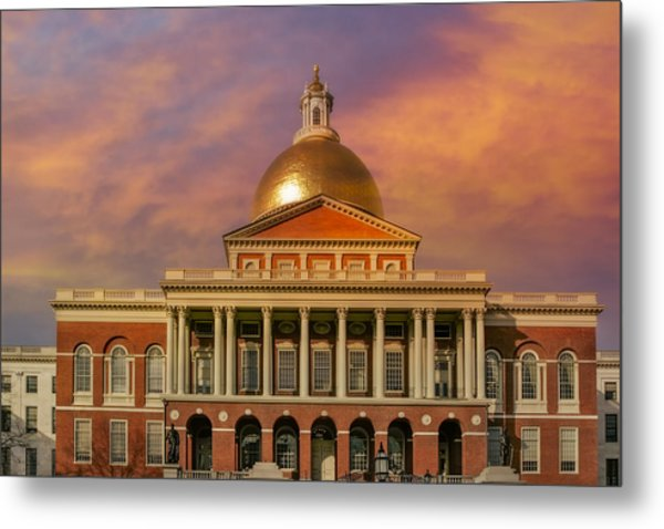 Massachusetts State House Metal Print