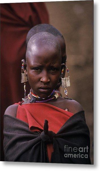 Massai Girl - Tanzania Metal Print