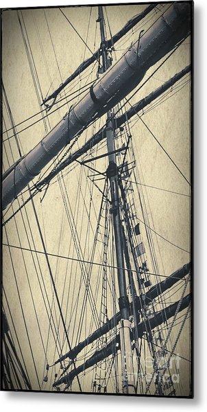Mast And Rigging Postcard Metal Print