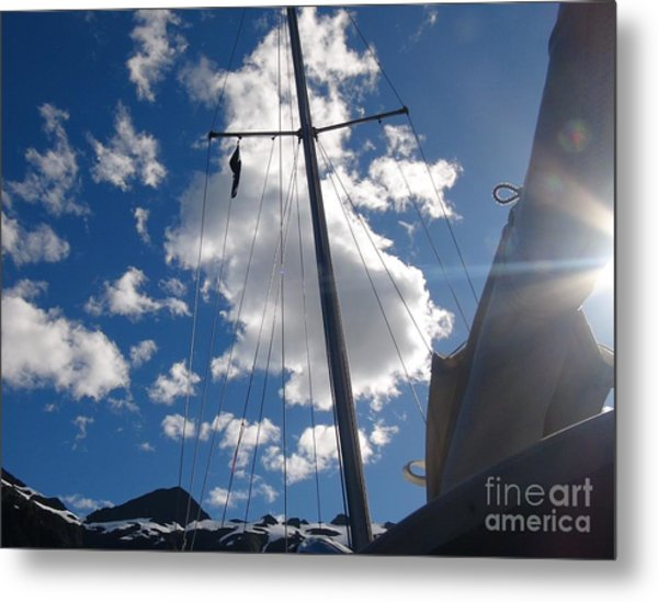 Metal Print featuring the photograph Mast And Sky by Laura  Wong-Rose