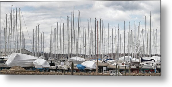 Glen Cove Mast Appeal Metal Print