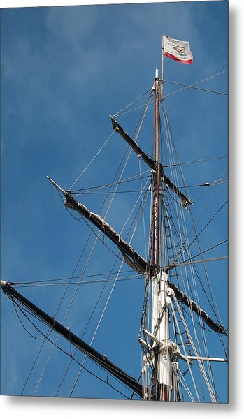Mast Metal Print by Jean Booth
