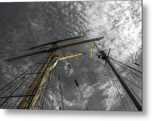 Masts And Rigging Metal Print