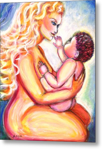 Maternal Bliss Metal Print