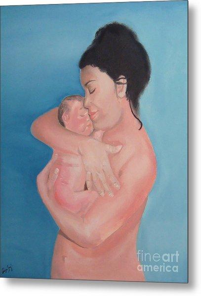 Maternidad / Motherhood Metal Print by Angela Melendez