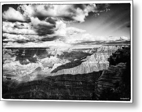 Clouds View From Mather Point  Metal Print by Lisa  Spencer