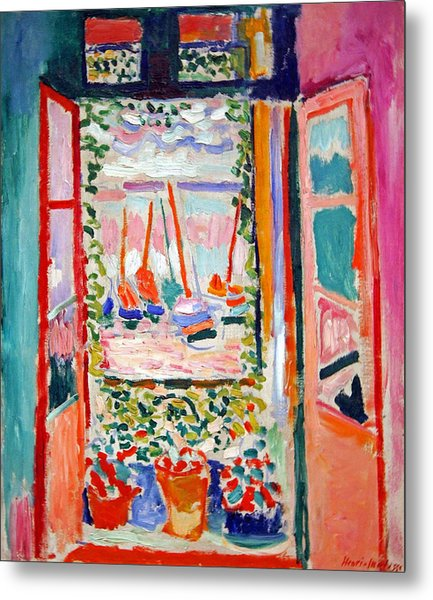 Matisse's Open Window At Collioure Metal Print