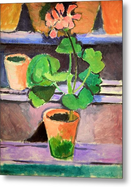 Matisse's Pot Of Geraniums Metal Print