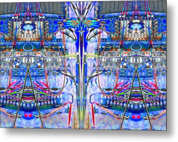 Matrix Blues Metal Print