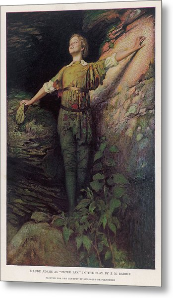 Maude Adams  Actress, As Peter Pan Metal Print by Mary Evans Picture Library