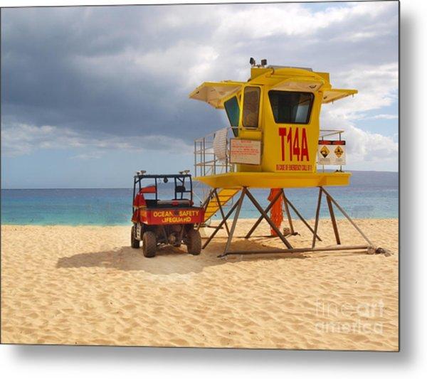 Maui Lifeguard Tower Metal Print