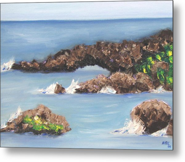 Maui Rock Bridge Metal Print