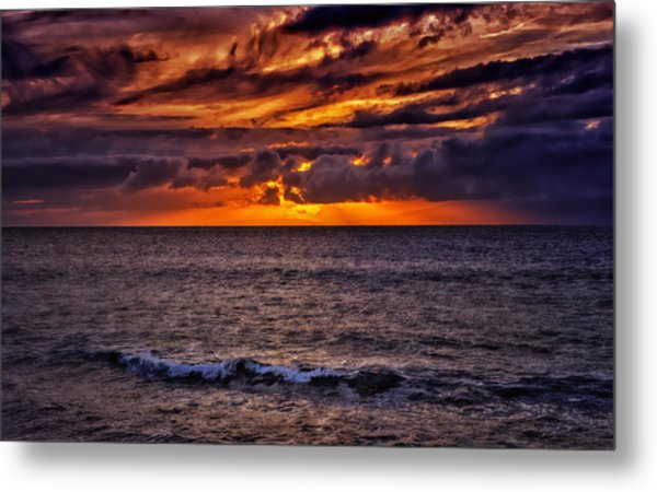 Maui Sunset Metal Print