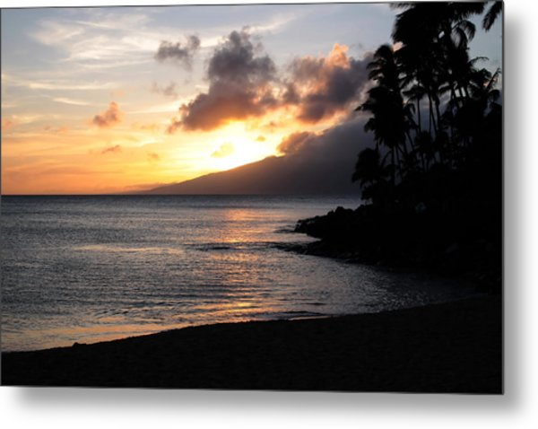 Maui Sunset - Napilli Beach Metal Print