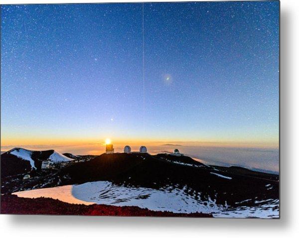 Mauna Kea Moonset 1 Metal Print