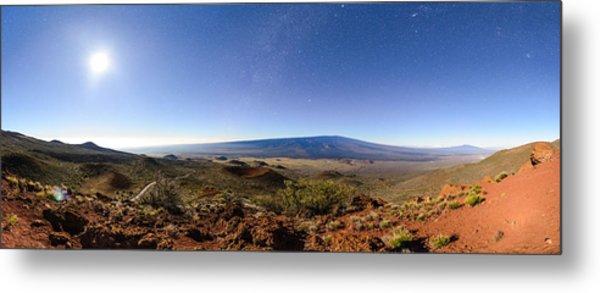 Mauna Loa Moonlight Panorama Metal Print