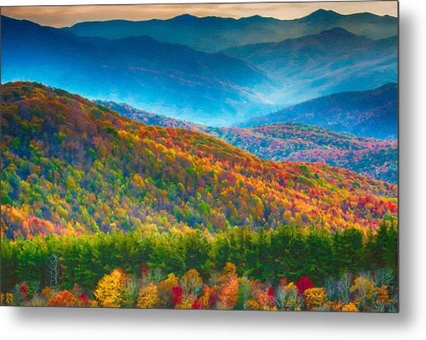 Max Patch Bald Fall Colors Metal Print