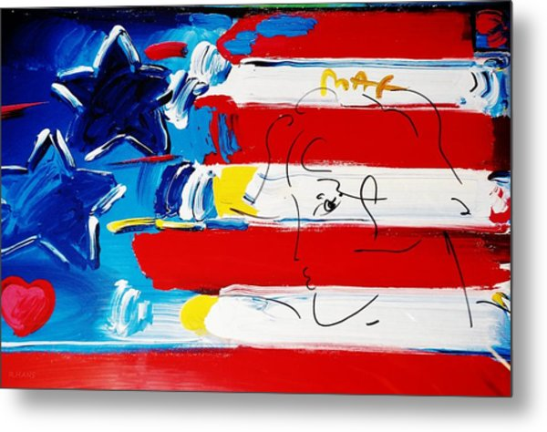 Metal Print featuring the photograph Max Stars And Stripes by Rob Hans