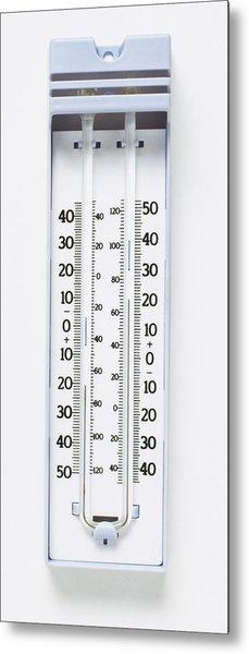 Maximum-minimum Thermometer Metal Print by Dorling Kindersley/uig