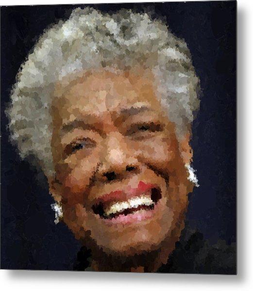 Maya Angelou Portrait Metal Print