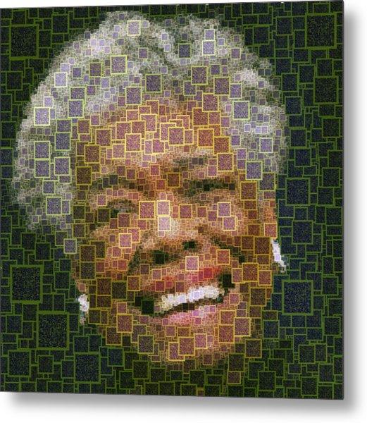 Maya Angelou - Qr Code Metal Print