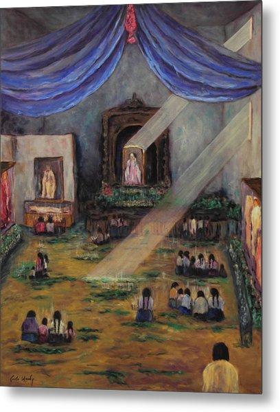 Maya Prayers Metal Print