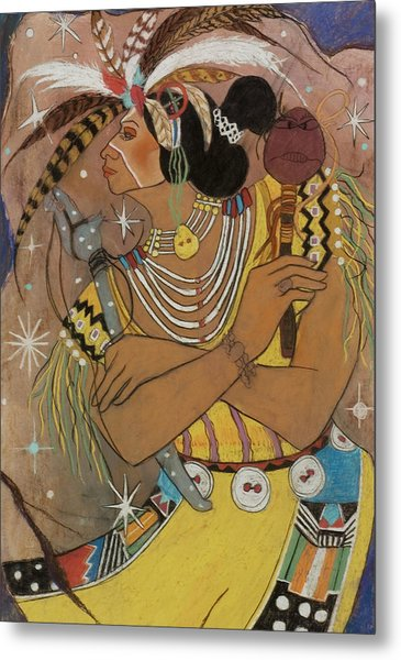 Mayan Ceremonial Dance Metal Print by Pamela Mccabe