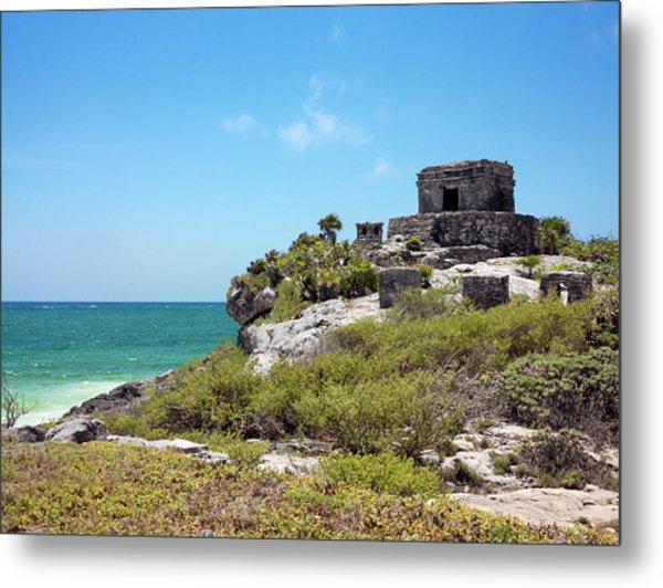 Mayan Temple Metal Print by Daniel Sambraus/science Photo Library