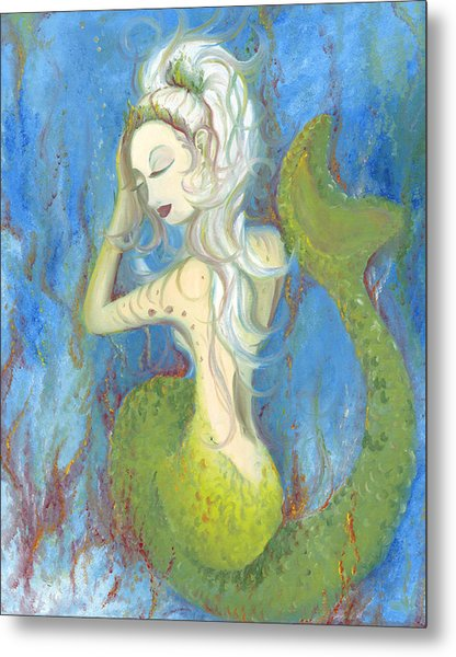Mazzy The Mermaid Princess Metal Print