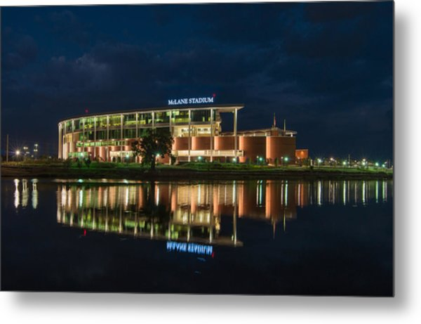 Mclane Stadium At Night Metal Print