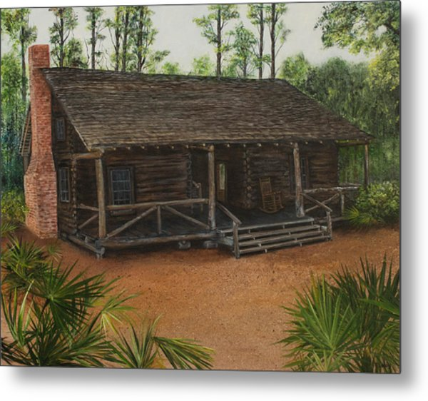 Mcmullen Log Cabin Metal Print