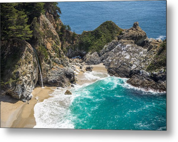 Metal Print featuring the photograph Mcway Falls Big Sur by Priya Ghose