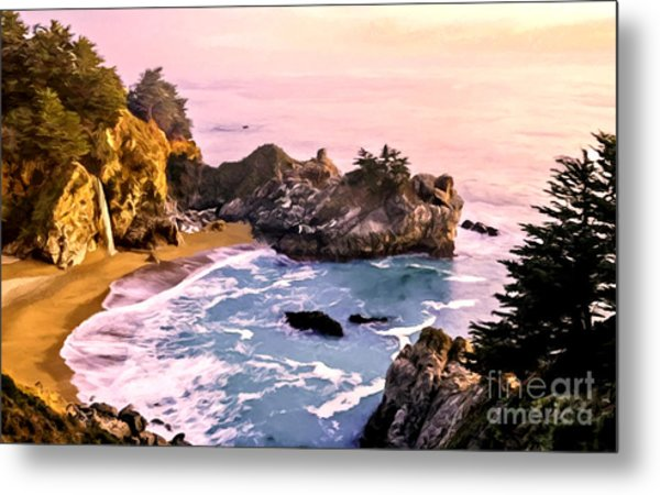 Mcway Falls Pacific Coast Metal Print