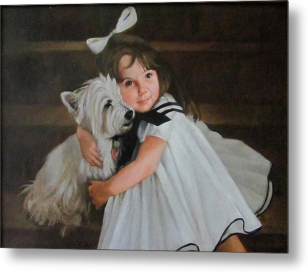 Me And My Scottie Metal Print