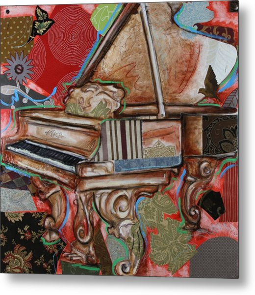 Me The Piano Metal Print
