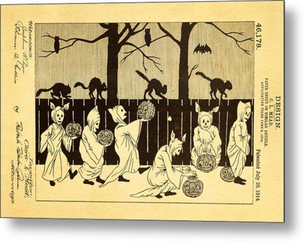 Mead Halloween Sheet Patent Art 1914 Metal Print