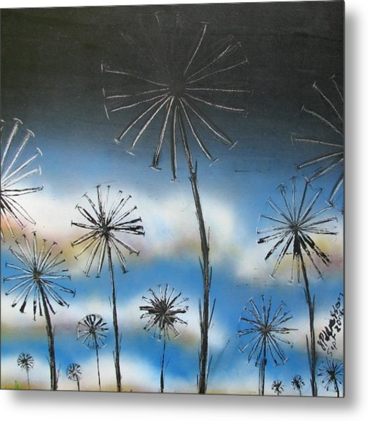 Meadow At Dawn Metal Print