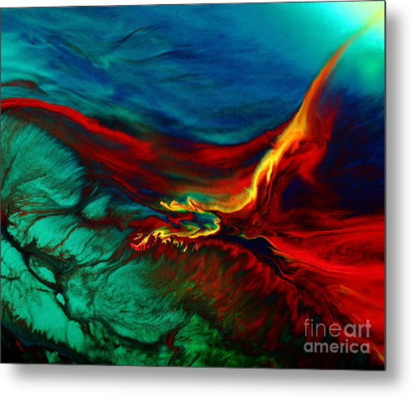 Meaningful Art-flying Above Modern Abstract Colorful Art By Kredart  Metal Print